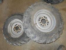 arctic cat 454 400 500 front rims wheels tires set silver 300 97 98 99 01 02 03