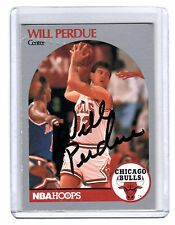 Will Perdue Chicago Bull Hand signed signature Autographed Basketball Card