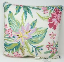 Palm Print Square Throw Pillow in Teal