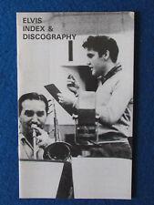 Elvis Presley Magazine - Elvis Index & Discography - 1984? - 24 pages