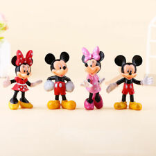 4Pcs Mickey & Minnie Toy PVC Figure Mickey Mouse Clubhouse Playset Gift 7cm