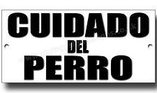 BEWARE OF THE DOG METALLSCHILD,HUNDERASSEN,SICHERHEIT,WARNSCHILD (SPANISCH)