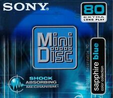 Sony MD 80 Sapphire Blue Recordable Blank Minidisc -