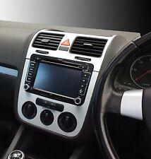 VW Golf Mk5 Jetta Bora Brushed aluminium effect dash surround + air vents  C