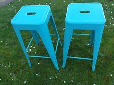2 x high bar stools, Aqua, 76cm high, Good used condition