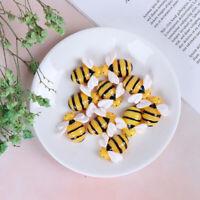 10pcs Flat Back Resin Cabochon Bee DIY Flatback Scrapbooking Embellishment CrJWG