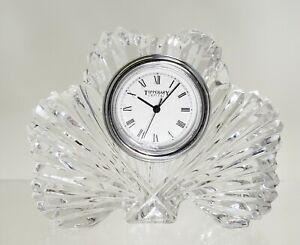 Tipperary Irish Crystal Clover Clock New Battery St. Patrick's Day