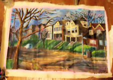 """""""JANCEY STREET"""" by Ruth Freeman ACRYLIC ON UN STRETCHED CANVAS 20"""" X 31 1/2"""""""