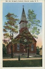 Old Postcard - St. Bridget's Church - Leeds New York