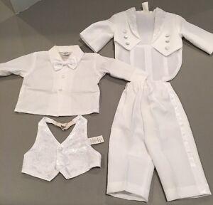 Baby White Small Tuxedo