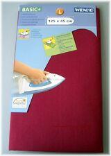 Wenko Bügelbrettbezug Alu Blitzbügler Bügelbrett Bezug BROMBEERE 125 x 45 cm