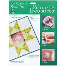 Dritz Printed Treasures Sew-on Ink Jet Fabric Sheets - 083421
