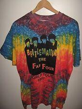 Fab Four Tee - Vintage 1997 Beatlemania Tribute Band Tie Dye World Tour T Shirt