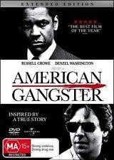 AMERICAN GANGSTER (Denzel WASHINGTON Russell CROWE) True Story Film DVD NEW