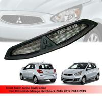 Front Bumper Mesh Grille Grill Use For Mitsubishi Mirage Hatchback 2016 - 2019