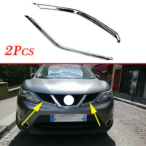 For Nissan Rogue Sport Qashqai Chrome Front Bottom Grille Cover Trim Molding
