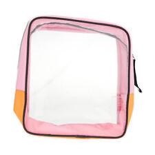 Clinique Transparent  Cosmetic Bag (Orange/Pink)