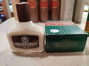 Vintage Avon Wild Country Mens After Shave Soother Lotion 4 fl oz New, Old Stock