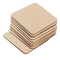 10 Teile / satz Unfinished Holz Ausschnitte Platz Holzstücke Blank für