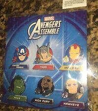 Disney 6 Pin Booster Pack Avengers Assemble Marvel Set New In Package Hulk Thor