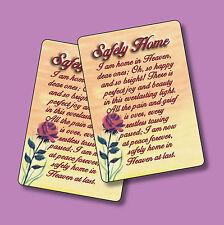 """Safely Home"" Memorial Poem - 2 Verse Cards - SKU# 840"