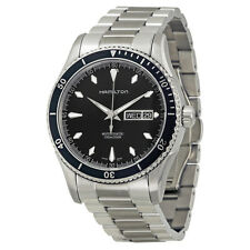 Hamilton Seaview Black Dial Stainless Steel Mens Watch H37565131