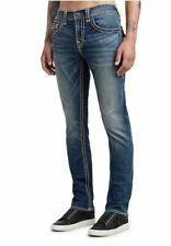 True Religion ROCCO SKINNY FLAP SUPER T W40 L34 Mens Blue Stretch Denim Jeans