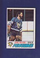Dunc Wilson 1977-78 O-PEE-CHEE OPC Hockey #224 (EXMT+) Pittsburgh Penguins