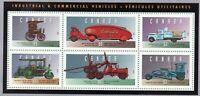 CANADA HISTORIC LAND VEHICLES #4 SOUVENIR SHEET SCOTT 1604 VF MNH