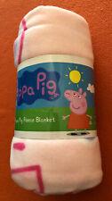 PEPPA PIG RAINBOW/ SMILE FLEECE BLANKET- 100CM X 150CM! GREAT GIFT! NEW! *L@@K!*