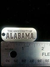 Alabama Crimson Tide NCAA College Football Silver Dog Tag Charm Free Shipping