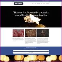 Work From Home CANDLES Website Business For Sale - Fully Stocked + Domain + Host
