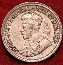 1920 Canada 5 Cents Silver Foreign Coin