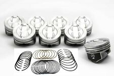 Speed Pro Chevy 350/5.7 Hypereutectic Coated Skirt Dish Pistons+CAST Rings +40
