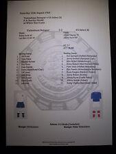 1961 FA Charity Shield Tottenham Hotspur v Select XI matchsheet