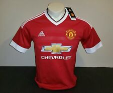 Adidas Manchester United Home Jersey 15/16, Red/White, Size S