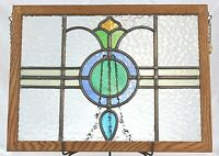 """Antique Stained Glass Church Salvage Window Pair Framed approx 19 3/4"""" x 14 3/4"""""""