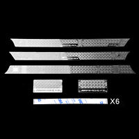 Para Traxxas TRX-6 G63 G500 RC Car Body Decorative Sticker Anti-skid Plate Metal