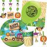 SAFARI ADVENTURE Birthday Party Range - Jungle Animals Tableware & Decorations