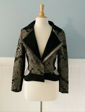 DP JEANS by DIDIER PARAKIAN  // Size 44 // Chic Brocade Tailored Blazer Jacket