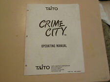 CRIME CITY  TAITO ORIGINAL   arcade  video game manual