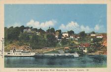 Bracebridge Ontario Canada * Drumkerry Cabins & Muscoga River ca. 1930s