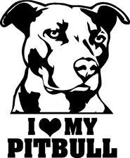 I LOVE MY PITBULL Vinyl Decal Sticker Car Window Bumper Wall Macbook Dog Rescue