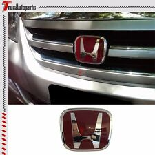 "Fit 04-12 Honda Odyssey Van JDM Red H Front Grill Emblem Badge 4.75""x4"""