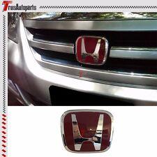 "Fit 04-12 Honda Odyssey Van JDM Red H Front Grill Emblem Badge 4.75""x4"""