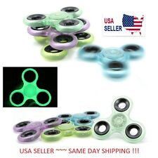 Glow In The Dark Hand Spinner Tri Fidget Ball Desk Focus Toy EDC For Kids/Adults
