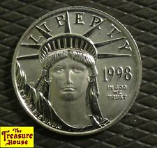 1998-P $25 1/4 OZ .9995 Fine Pure Platinum American Eagle Bullion Coin Burnished