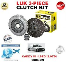 for VW CADDY III 1.9 TDI 2.0 2004-On NUOVO ORIGINALE LUK 3 pezzi Kit frizione