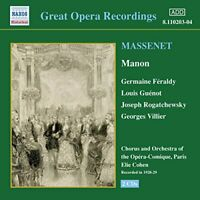 eorges Villier - Massenet: Manon [Recorded 1928-29] [CD]