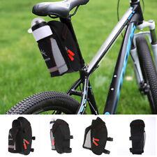 Bicycle Saddle Bag with Water Bottle Pocket Bike Rear Seat Tai_cx